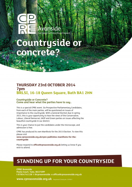 countryside or concrete event flyer