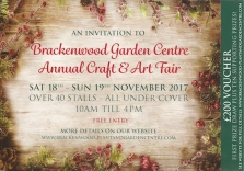 Brackenwood Garden Centre Annual Craft & Art Fair